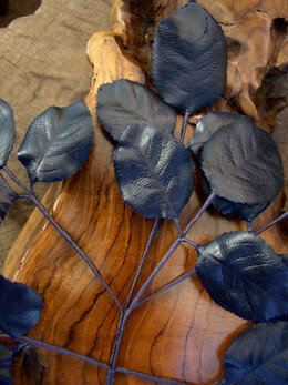 Vintage Rose Leaves Midnight Blue