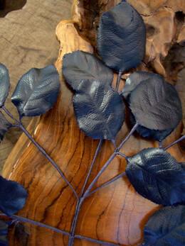 Vintage Rose Leaves Midnight Blue
