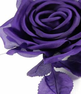 Vintage Silk Roses Purple 5 in.