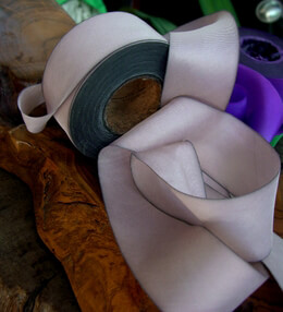 Violaceous Tan Custom Dyed Silk Ribbon 1.5in x 38 yards