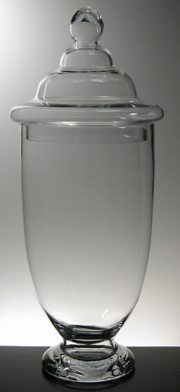 Voluminous Glass Apothecary Jar 23in