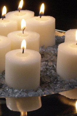 21 Ivory Votive Candles 10 Hour  Unscented