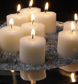 Votive Candles (21 candles)  Ivory Unscented