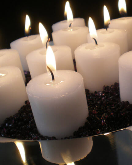 21 White Votive Candles 10 Hour Unscented