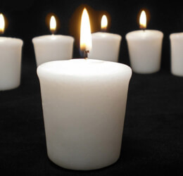 Votive Candles White (9 candles) Unscented