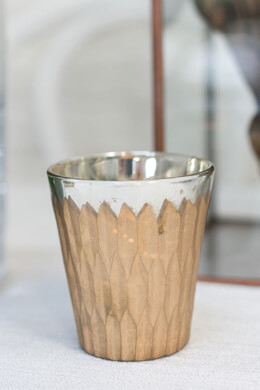 Gold Mercury Glass Glam Votive Holders