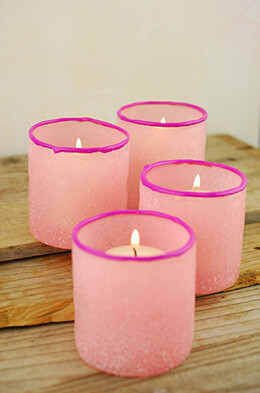 Votive Holder Pink 3in (Set of 4)