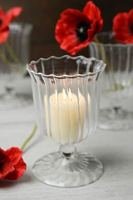 April Clear Glass Vase & Votive Holders