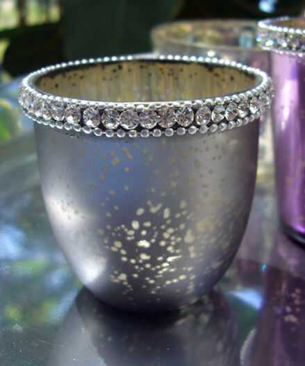 Votive Holders Diamond Edge