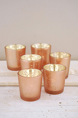 Votive Holders Rose Gold (Set of 6)