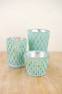 Votive Holders Turquoise (Set of 3)