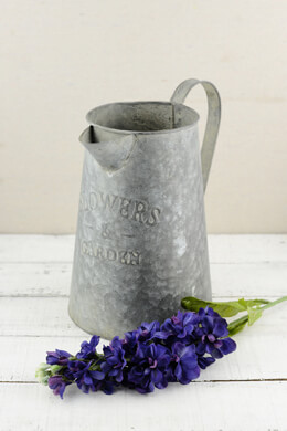 Watering Can Metal 10in Galvanized