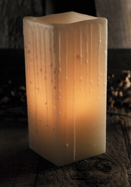 Hand Crafted 3x7 Wax Luminary Ivory