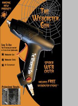 Webcaster Gun� Cobweb Casting Gun