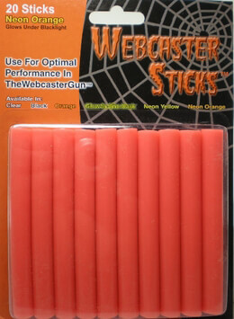 Webcaster Sticks NEON ORANGE 20 pieces