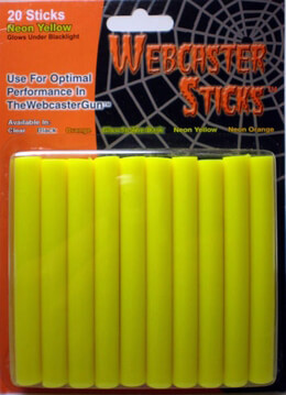 Webcaster Sticks NEON YELLOW 20 pieces