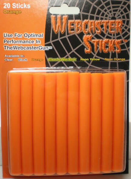 Webcaster Sticks ORANGE 20 pieces