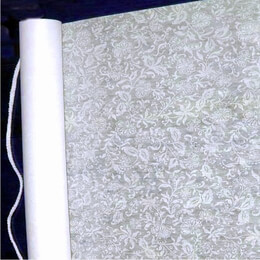 Wedding Aisle Runner French Lace White 75' x 36 ""