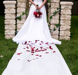 White Wedding Aisle Runner 100ft