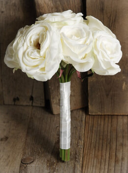 Rose Bouquet Silk White