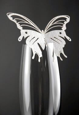 Wedding Butterfly Escort Cards White for Glasses (10 cards/pkg)