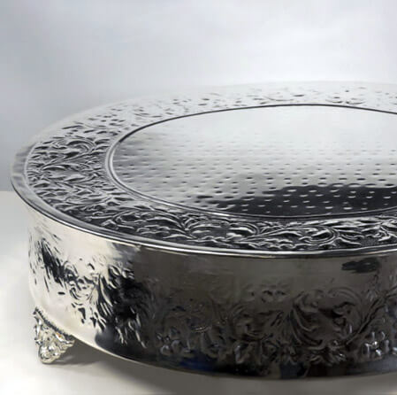 """Wedding Cake Stands 22"""" Plateau Silver Plated"""