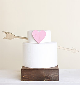 Wedding Cake Topper Wood Arrow (2 pieces)