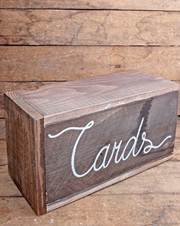Wedding Card Box Wood 6.8 x 5.38 x 12.5in