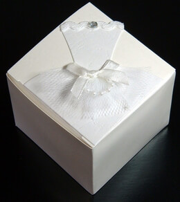 "Brides Tulle Wedding 2.5"" Favor Boxes- 12 boxes"