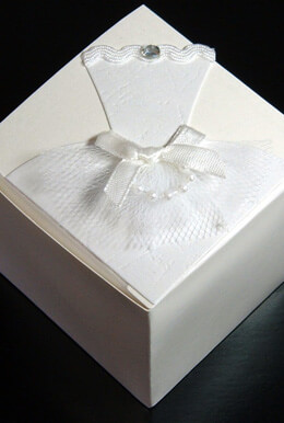 "Wedding Favor Box  2.5"" Favor Boxes- 12 boxes"