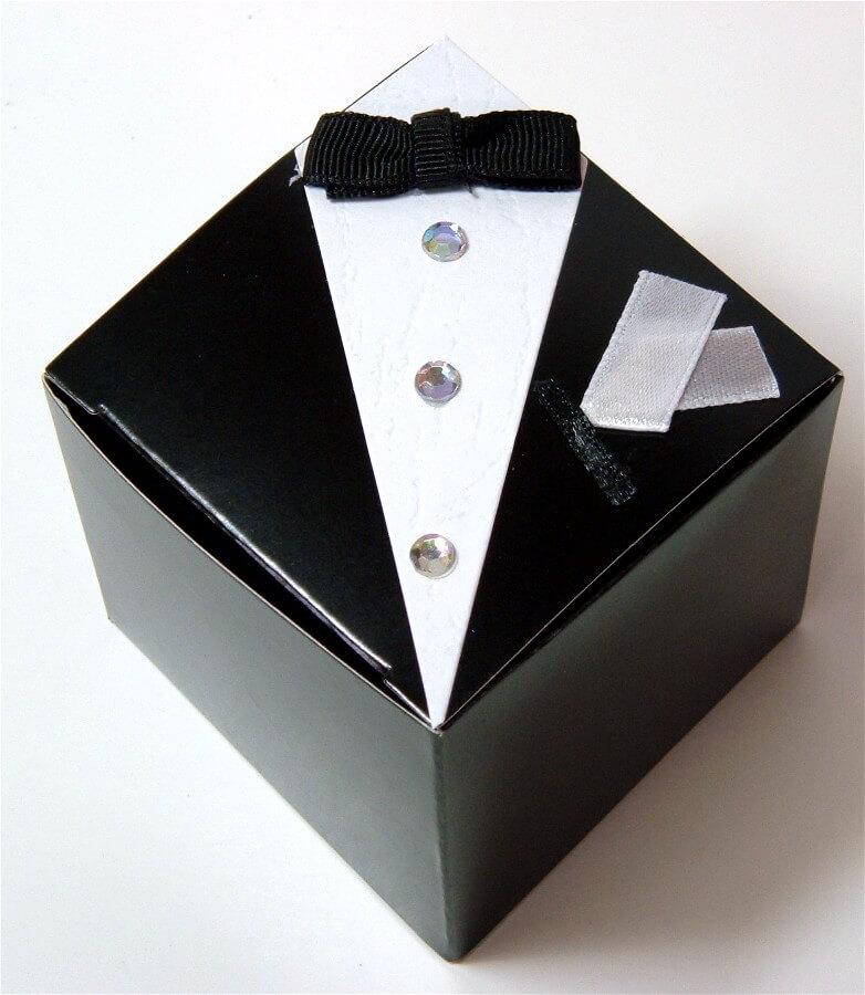 Wedding Favor Boxes Tuxedo (12 boxes)