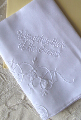 Wedding Handkerchiefs GRANDMOTHER OF THE GROOM