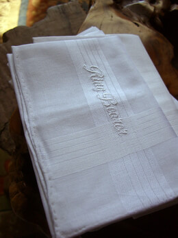 Wedding Handkerchiefs RING BEARER Embroidered