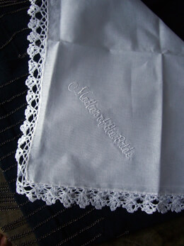 Wedding Hankerchief for the MOTHER OF THE BRIDE- Embroidered