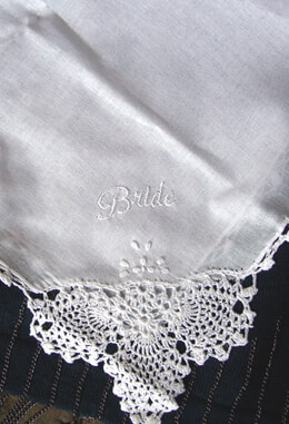 Embroidered Bride Wedding Handkerchief