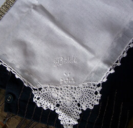 "Wedding Handkerchief ""Bride"""