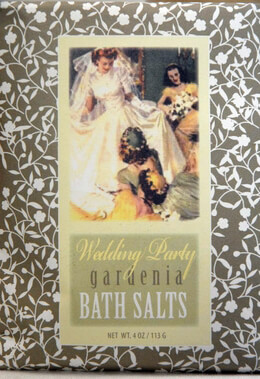 Wedding Party Bath Salts Bluebird Packaged Gardenia Bath Salts