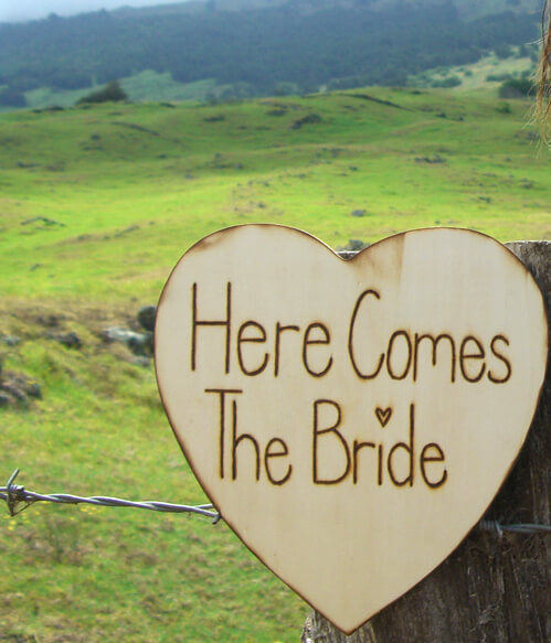"Wedding Signs ""Here Comes the Bride"" Wood Sign"