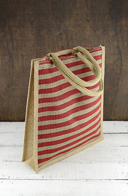 Wedding Welcome Bag Striped Red 14x12x4