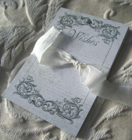 Wedding Wishing Tree Tags Black Ink