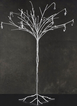 Silver Crystal Table Top Wedding Tree 3.5 Feet