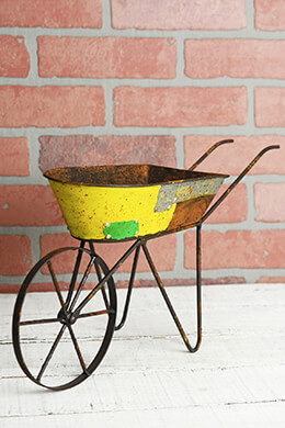 Recycled Metal 17in Wheelbarrow