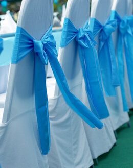 Chair Covers, Ribbons, Signs