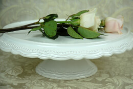 Ceramic Cake Stand White 15in