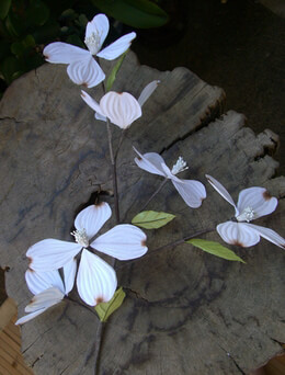 White Dogwood Branch 2' Hand Made Vintage