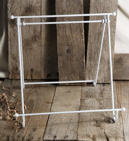 12 x12 White Enamel Metal Stand Easel