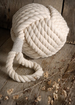White Nautical Knot Rope 12""