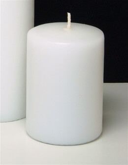 White Pillar Candles 4in | Set of 2