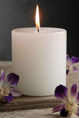 White Pillar Candles Unscented 4x4