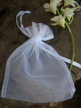 Organza Favor Bags White 5x6.5 (Pack of 12)